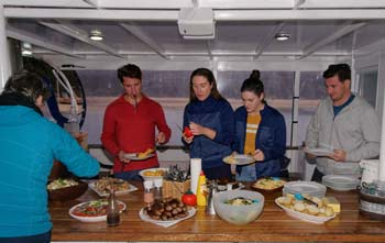 Accommodation dinner on the floating backpackers