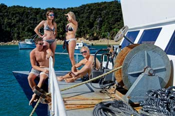 Enjoy your boat accommodation in the Abel Tasman