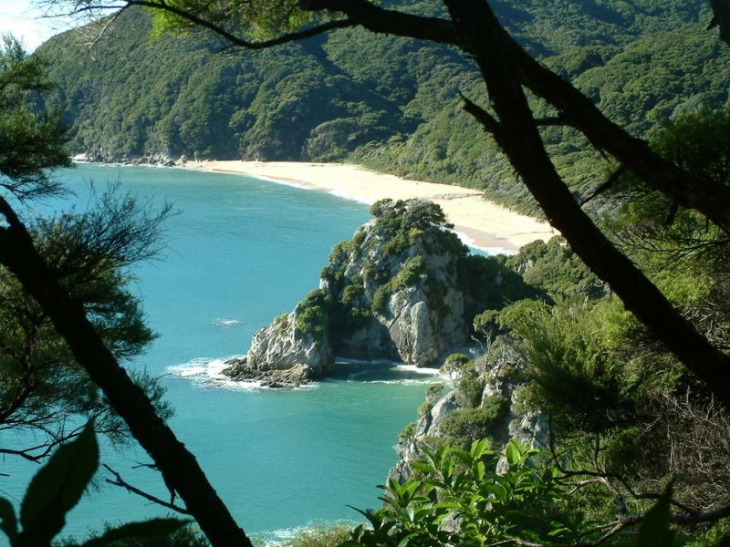 Blue- green waters of Abel Tasman National Park, Nelson, New Zealand
