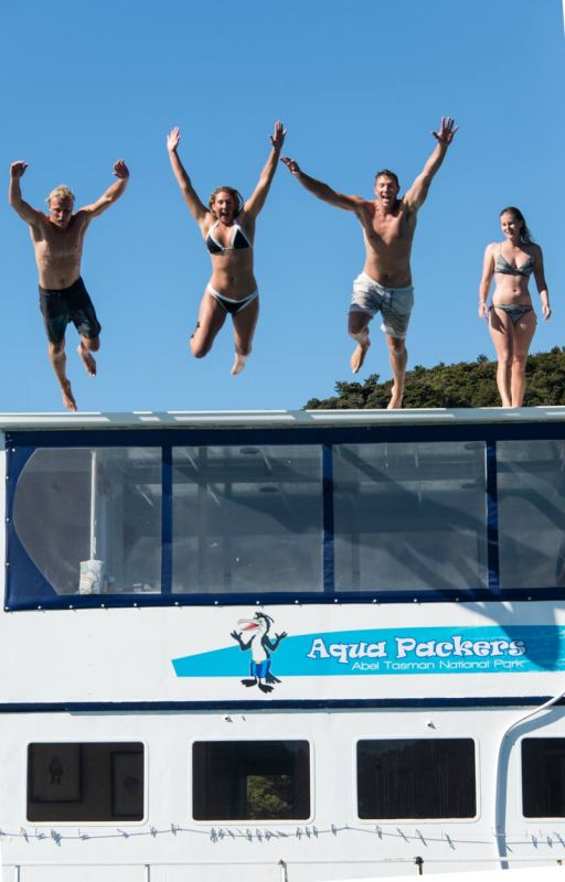 Abel Tasman Aquapackers, Floating Accommodation