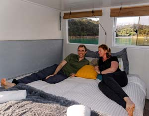 Private cabin accommodation in the Abel Tasman